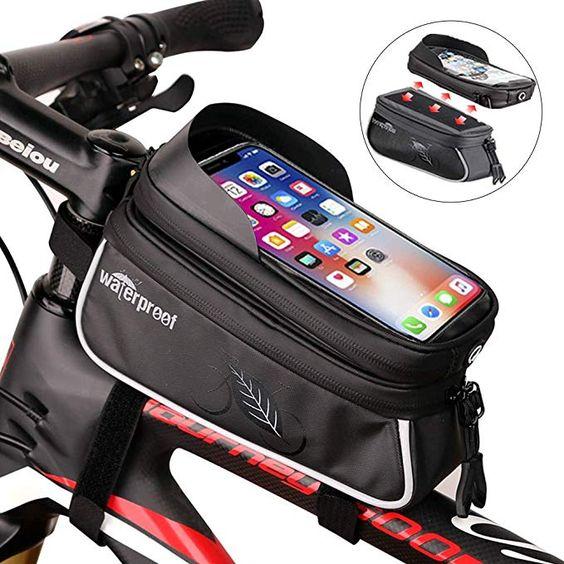 Ndakter Bike Bag Bike Phone Mount Bag Waterproof Top Tube Bike Bag