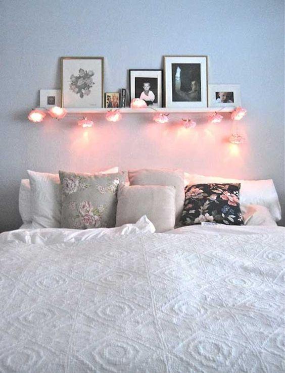 Luzes na cabeceira da cama: