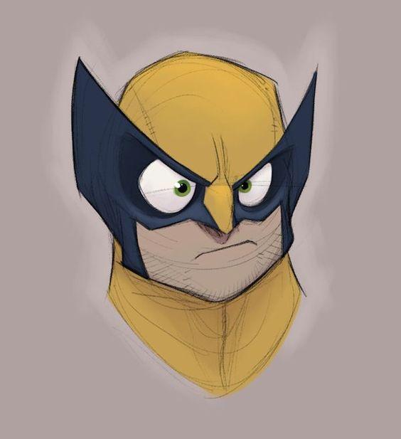 Disney Inspired X-Men Doodle Portraits - Neatorama