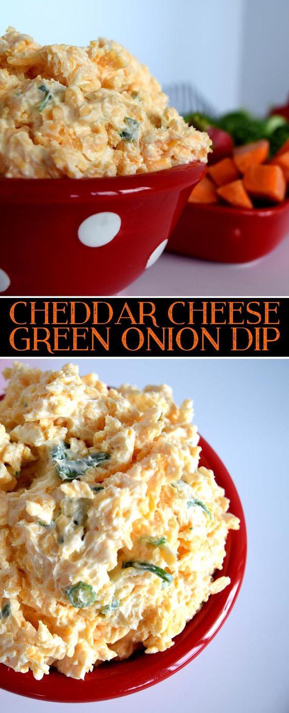 CHEDDAR CHEESE GREEN ONION DIP