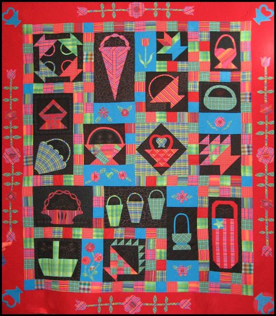 Idea for boy quilt of cars/trucks instead of baskets.: