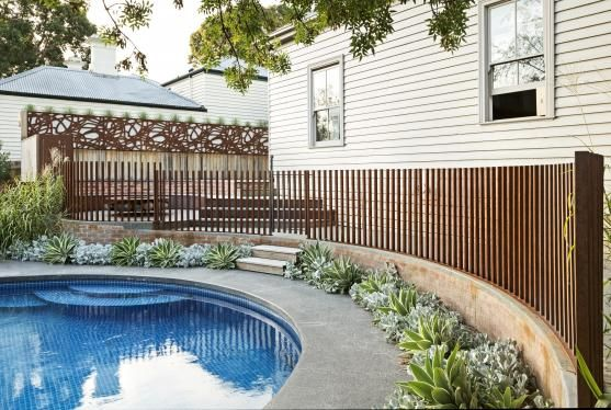 25 Swimming Pool Fence Ideas Pool Cleaning Hq Pool Fence Pool Landscaping Backyard Pool
