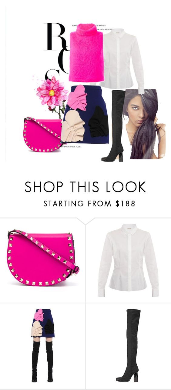 """Untitled #884"" by atilayla ❤ liked on Polyvore featuring Valentino, Elie Tahari and MSGM"