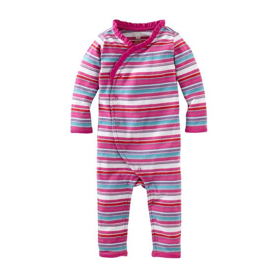 This lunar stripe wrap romper from Tea Collection is just the sweetest thing for a new baby gift.  I love Tea's clothes - they are soft and very durable.
