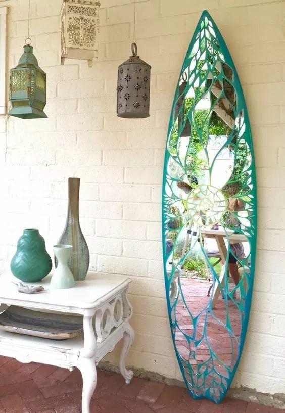 Pin Von Fun Surfing Blog Auf Surf Decoration Surfbrett Kunst Mosaikspiegel Deko