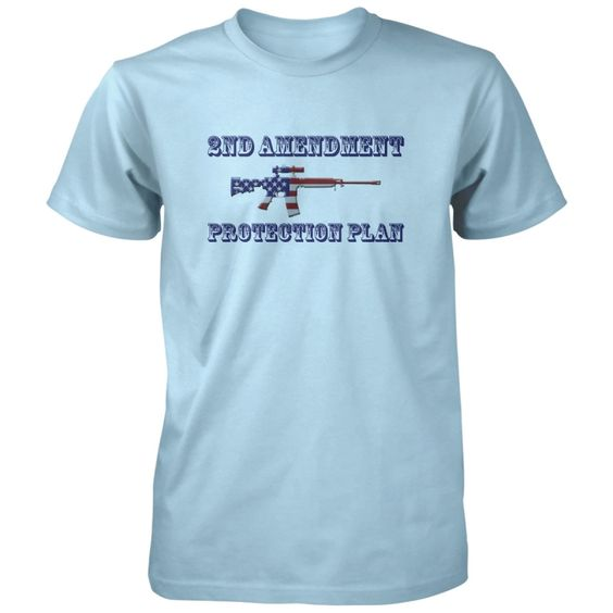 2nd Amendment Protection Plan Shirt - Wanna see my 2nd amendment protection plan? All of our incredibly soft unisex adult shirts are made of 100% combed cotton. The sport grey t-shirt is made of 90% combed cotton and 10% polyester. Every t-shirt is custom made within 2-3 business days of completed payment.