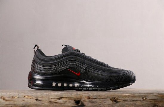 Nike Air Max 97 All Over Print Reflective Logos Black Red Ar4259 001