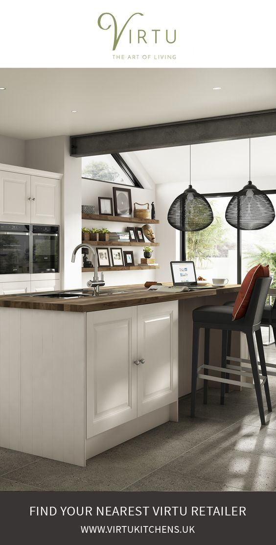 Classic contemporary kitchen. Find your nearest retailer to make an appointment. #VirtuKitchens