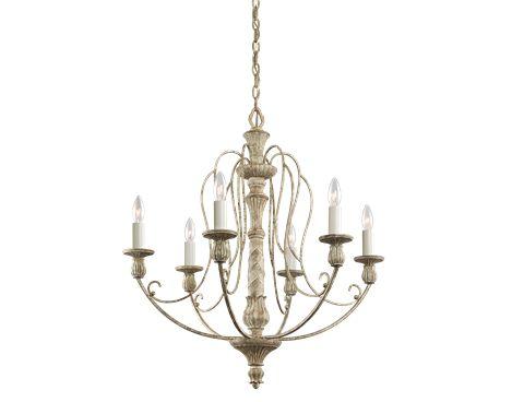 Chandelier 6Lt DAW - Kichler Lighting - pendant, ceiling, landscape light fixtures & more