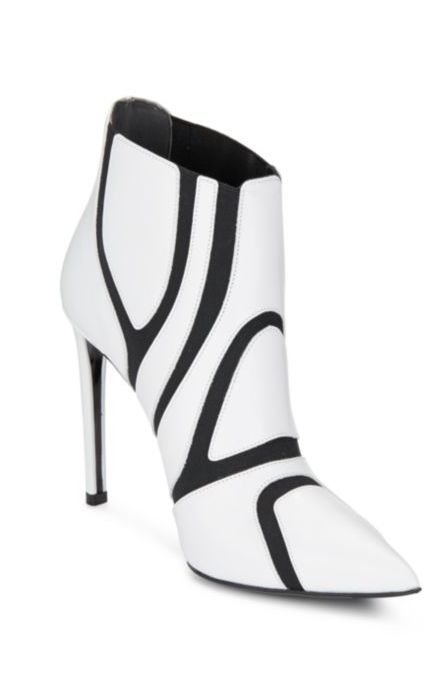 Balenciaga Cutout Leather Booties , from Iryna