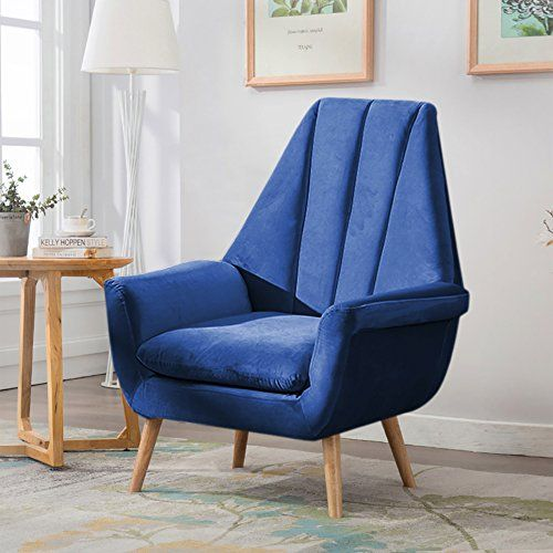 Warmiehomy Modern Velvet High Wing Accent Chair Bedroom L Https