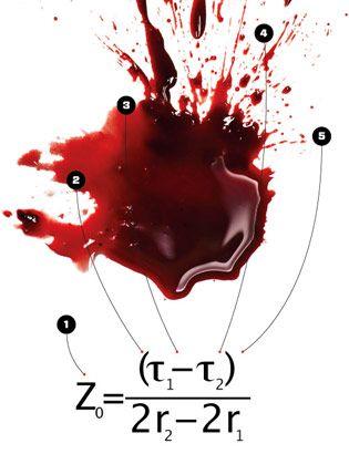 equation blood spatter a math matter equation first blood and turning. Black Bedroom Furniture Sets. Home Design Ideas