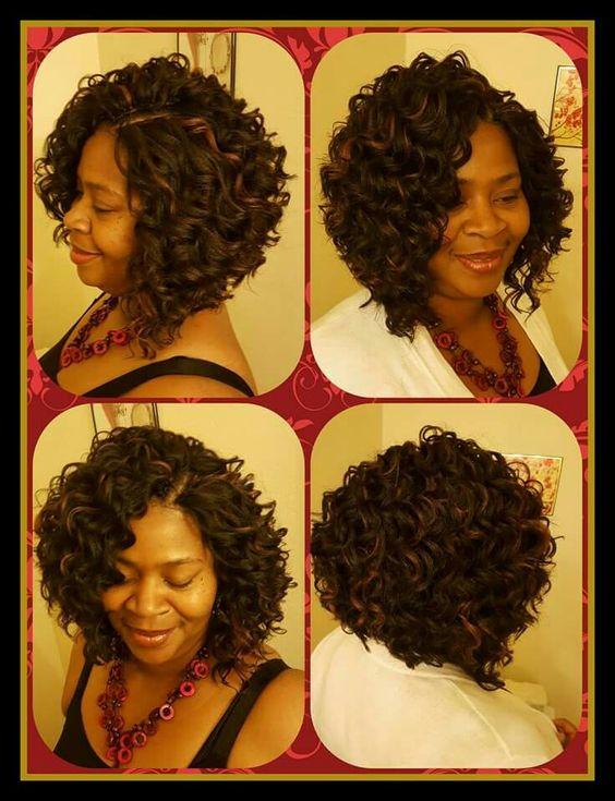 Crochet Braids W Kima Ripple Deep Hair Curls Buns