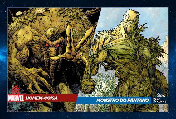 Homem-Coisa (Marvel - maio de 1971) - Monstro do Pântano (DC - julho de 1971)