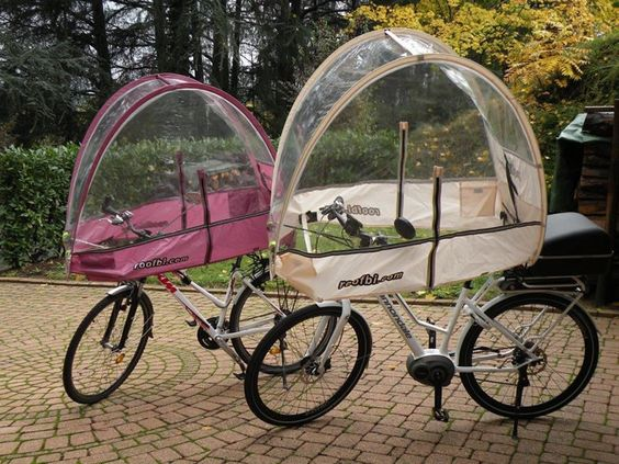 Rain Cover Roofbi For Bicycle And Ebike Against Rain Cold