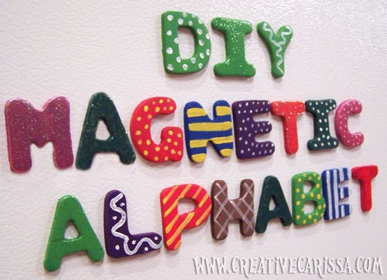 Make Cute Alphabet Magnets! with dollar store magnets