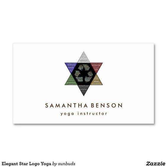 Elegant Star Logo Yoga Double-Sided Standard Business Cards (Pack Of 100)