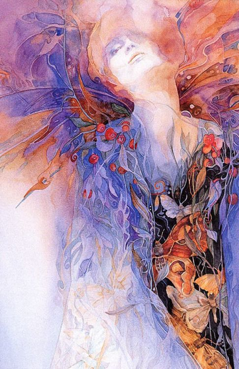 victoriousvocabulary:    CERES  [noun]  Roman mythology:a goddess of agriculture, grain crops, fertility and motherly relationships. She is the Roman counterpart to Greek mythology's Demeter.  painting: Helena Nelson-Reed