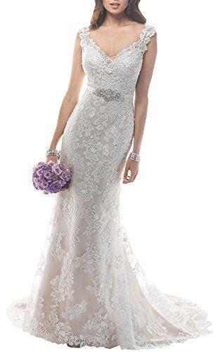 Harshori V Neckline Beaded Sheath Tulle Satin Slip Wedding Dress  http://www.weddinglota.com/harshori-v-neckline-beaded-sheath-tulle-satin-slip-wedding-dress/
