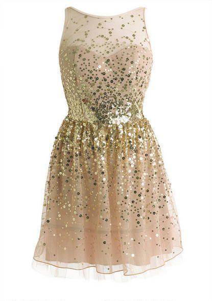 Sequin Mesh Dress: Sparkly Dress, Formal Teen Dress, Prom Dress, Year, Gold Dress, Gold Party Dress