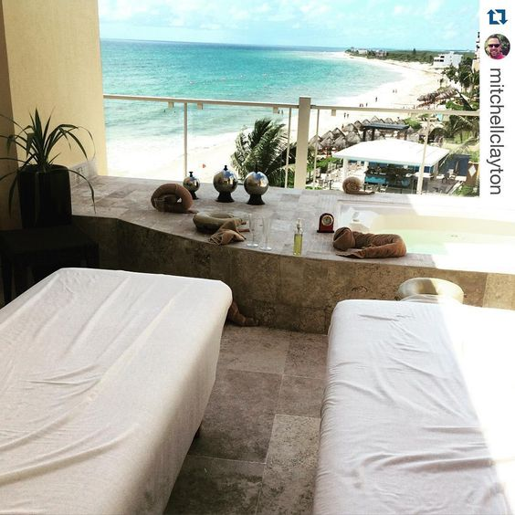 """""""Happy #BeachThursday! We hope @mitchellclayton enjoyed his massage! ・・・ """"Wonderful way to start the day! Such a #beautiful setting and soothing experience…"""""""
