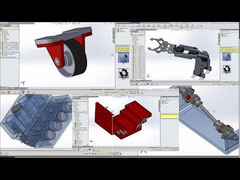 Ensambles En Solidworks Links De Descarga Youtube Solidworks Solid Works Industrial Design