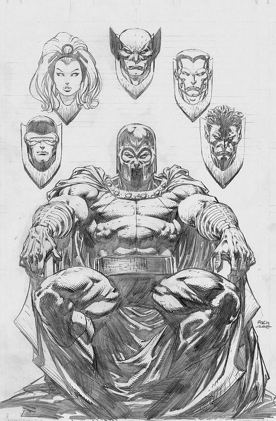 david-finch-magnetocommpencils - Comic Art Work By David Finch - #comics, #comicart, #davidfinch, #finch