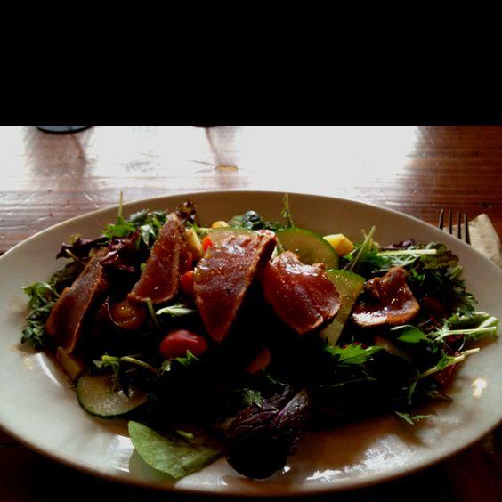 Seared Ahi Tuna salad at The Creamery in SF yumm