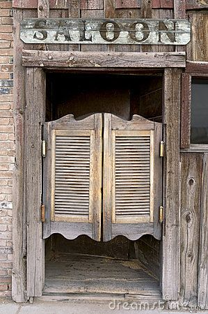 Old Western Swinging Saloon Doors by Carl Keyes