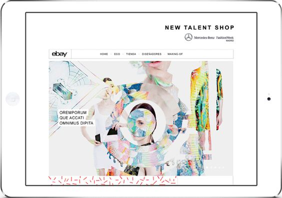 New Talent Shop by Pelonio Comunicación, via Behance