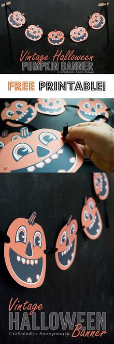 Easy to make vintage Halloween garland - free printable!