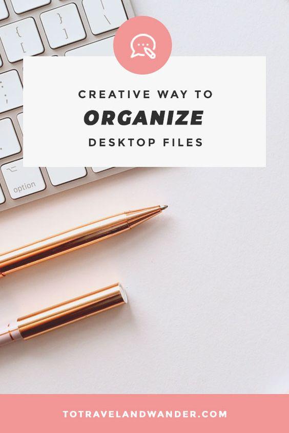 Creative Way to Organize Desktop Files