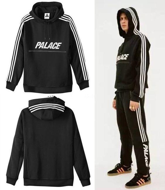 palace hoodies men 3m Reflective zipper hip hop hoodies sweatshirt moleton…
