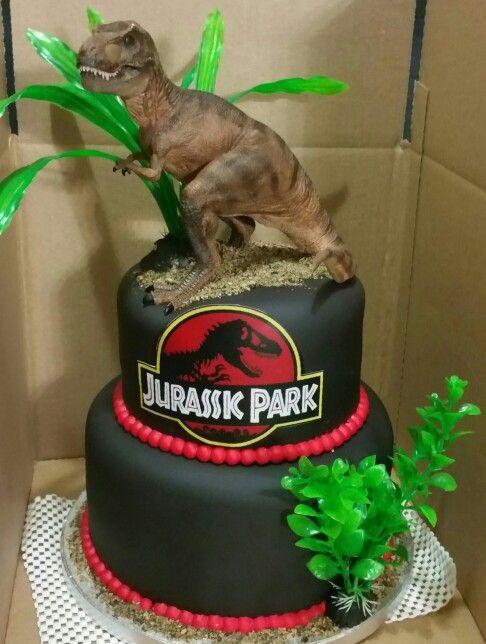 Dino/Jurassic Park Cake