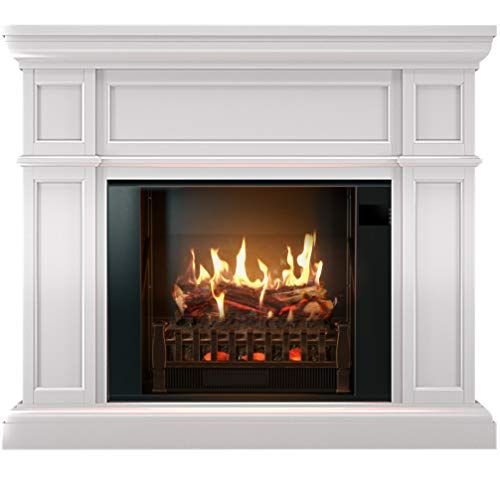 Magikflame Electric Fireplace With Mantel Electric Fire Https Www A White Electric Fireplace Realistic Electric Fireplace Electric Fireplace With Mantel