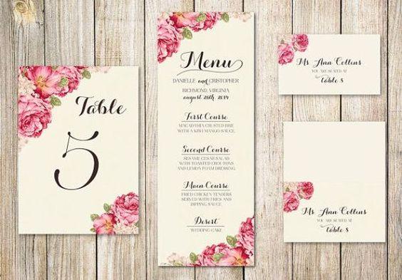 Ideas para un #menú de boda original y bonito.