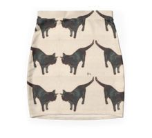 Feline Fortuna - Black Cats  (Pencil Skirt) by Cecely Bloom