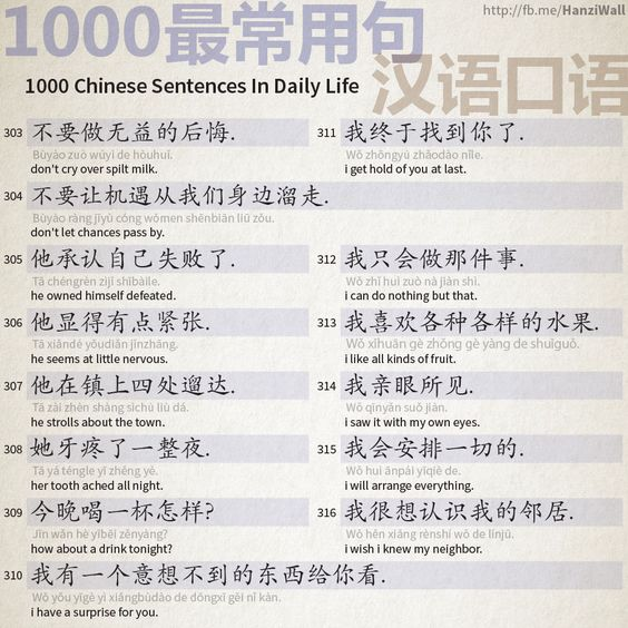 1000 Chinese Sentences In Daily Life Part 20