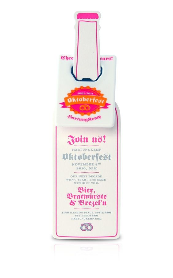 Oktoberfest is already a great holiday, these invites from Carisa Flaherty make it even better!