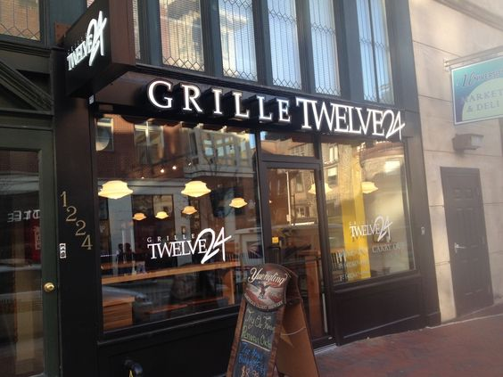 Grille Twelve24  Peruvian chicken is the specialty Grille Twelve24 (1224 N. Charles St., 410-617-8990), a counter-service eatery in the Mid-Town Belvedere neighborhood. The menu also features burgers and panini.  http://www.baltimoresun.com/entertainment/bal-1224-20141215-photo.html