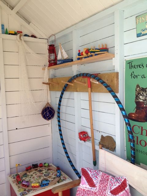 Inside my garden beach hut 1 projects to try for Beach hut interior ideas