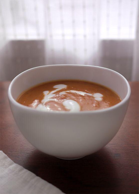 Tomato, Squash, & Coconut Milk Bisque (Vegan)