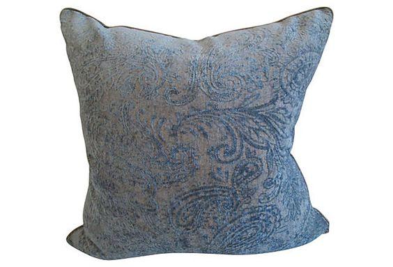 One Kings Lane - Style Guide - Chenille & Velvet Pillow