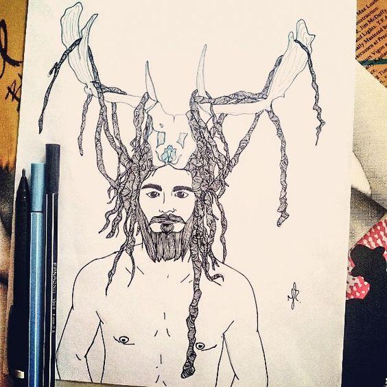 Seja você... Mesmo que seja bizarro... Bizarro... Bizarro...  #PittyLeone #Mascara #Beard #Barba #Cabelo #Dread #Caveira #Rock #Indie #Hipster #Drawing #Desenho #Draw