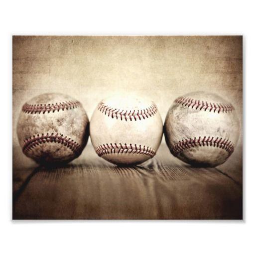 Vintage Baseballs Little Slugger and Ball Photo Print, Decorating Ideas, Wall…