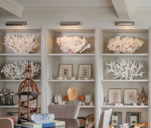 Se há coisa que eu gosto mesmo muito na decoração, são conchas, búzios, estrelas do mar, corais, etc. E nem sequer precisam de ser conchas...: