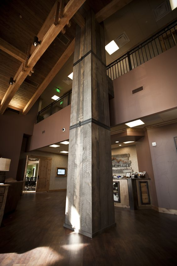 We Wrapped A 30 Tall Column In The Lobby With Reclaimed