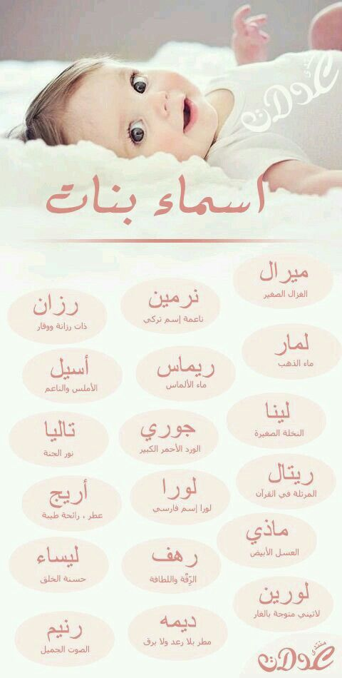 Pin By Adel On Bonne Annee 2019 Arabic Baby Girl Names Muslim Baby Names Arabic Baby Names