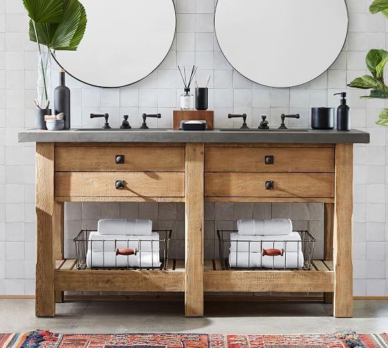 Abbott 68 Double Sink Vanity Custom Bathroom Vanity Double Sink Vanity Reclaimed Wood Vanity