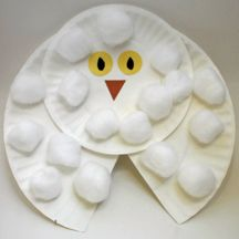 snowy owl for Artic animals theme week - simple and cute!
